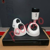 Jual PAKET KAMERA CCTV HDCVI 4 CHANNEL + HDD 320GB INDOOR OUTDOOR Murah