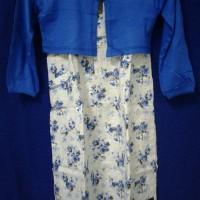 Baju gamis anak Oka Oke / Baju anak Oka Oke - bunga biru size 4