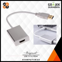 Jual USB 3.0 to HDMI Adapter / Converter Cable 1080P - USB 2.0 Compatible Murah