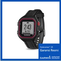 harga Garmin Forerunner 25 Black/red - Jam Outdoor Hitam Merah Tokopedia.com