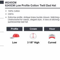 Jual TOPI BAGUS/ 6245CM Low Profile Cotton Twill Dad Hat Topi Flexfit Yupoo Murah