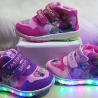 sepatu anak perempuan LED FROZEN