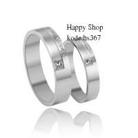cincin couple/Titanium asli. tidak berubah warna. free ukir nama