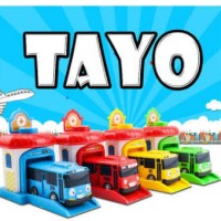 TAYO THE LITTLE BUS GARAGE PUSH GO LAUNCHER TOY MAINAN GARASI ANAK