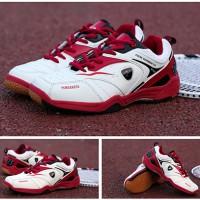 Jual Baru..!! Sepatu Badminton/Bulutangkis/Tennis KETA 115 White Red Murah