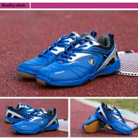 Jual Baru..!! Sepatu Badminton/Bulutangkis/Tennis KETA 115 Silver Blue Murah