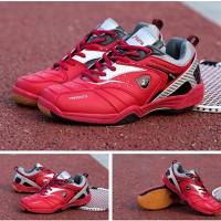 Jual Baru..!! Sepatu Badminton/Bulutangkis/Tennis KETA 115 Silver Red Murah