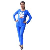 Setelan Baju Tidur Wanita Celana Panjang / Baju Tidur Soft Cotton 2688