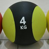PREMIUM MEDICINE BALL 4kg / Bola Latihan Fitness Gym Basket Berat 4k