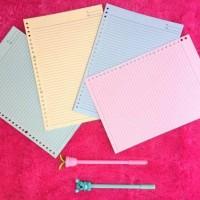 Loose Leaf /isi file / isi binder / kertas refill binder WARNA 26 ring