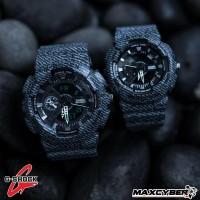 Jual Jam Tangan Bandung Couple G-Shock Denim Dualtime Keren   Murah