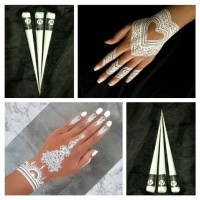 HENNA WHITE PUTIH BODY PAINTING WATERPROOF