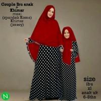 couple gamis abaya syar'i ibu dan anak  + BERGO