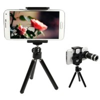Jual [Promo] Lensa HP Tele Zoom 8x with Tripod Murah
