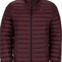Tommy Hilfiger Men's Packable Down Jacket Maroon