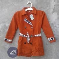 Jual Jaket Blazer Coat Anak Perempuan Bahan Fleece + Kancing  Murah