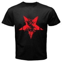 Kaos Keren New SEPULTURA Red Star Logo Metal Rock Band Men's Black T-S