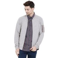 harga Minimal Men Varsity Melange Sweat Jacket Grey (mnm0731-50010720030) Tokopedia.com