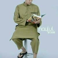 Setelan Gamis Pria ST026 / Busana Muslim Laki Laki / Baju Koko Panjang