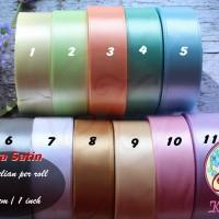 Jual Pita Satin 1 Inch (2,5cm) warna pertama per roll Murah