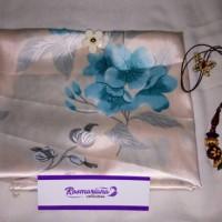 Jilbab Wolfice motif bunga warna krem