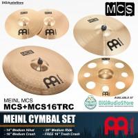 Meinl MCS+MCS16TRC PAKET MCS Cymbal Drum 14 inch HIHAT 16 CRASH & RIDE