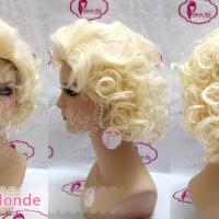RCM03 | Wig Marilyn Monroe / short curly pendek keriting / cosplay