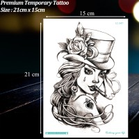 Jual TEMPORARY TATTOO MOTIF SMOKING GIRL / TATO TEMPORER MURAH, LC-547 Murah