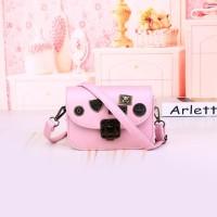Tas Shoulder Selempang Vintage Elegan Pink Wantia Sandang Sling Bag