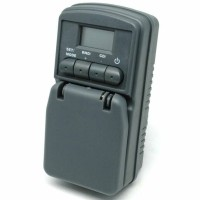 harga Taff Digital Timer Switch With Ip44 Waterproof - Wt001 - White Tokopedia.com