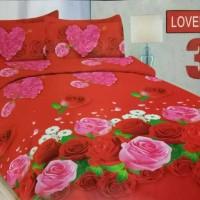 BEDCOVER BONITA LOVELY ROSE 180 MURAH