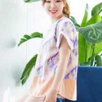 Kuki Style Apgujeong  Batik Top -  Purple