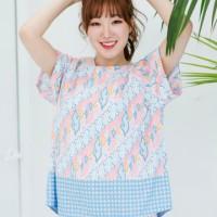 Kuki Style Apgujeong Batik Top - Blue