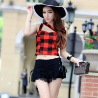 JES-SB0030 tanktop skirt import korea-baju rok wanita-sexy dress mini