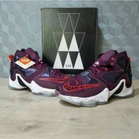 Sepatu Basket Nike Lebron 13 Mulberry / Murberry Size Kecil