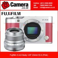 Harga fujifilm xa3 x a3 body xf 23mm f2 0 pink kamera mirrorless   Pembandingharga.com