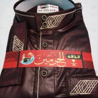 gamis pria Daffah Al-haramain asli mesir 60L jubah maroon thobe import
