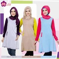 Atasan Muslim Wanita Gemuk, Tunik Kaos Muslimah, Model Baju Tunik