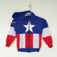 Jual Jaket Anak Captain America BIRU (Size XL-XXL) Murah