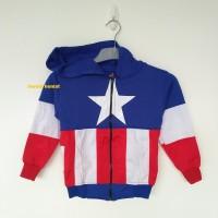 Jual Jaket Anak Captain America BIRU (Size S-L) Murah
