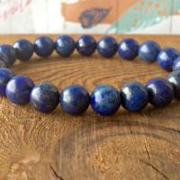Gelang Batu Lapis Lazuli Asli Biru Natural