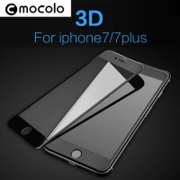 Mocolo 3d Full Curved Iphone 7 Plus Tempered Glass Kaca - Black