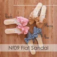 Jual NF09 SEPATU SANDAL FLAT WANITA PITA RIBBON Murah