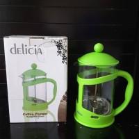 Jual Teko teh/kopi kaca dengan French Press merk Delicia dari Ace Hardware Murah