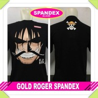kaos oblong spandex gold d roger onepiece one piece