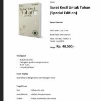 surat kecil untuk Tuhan-novel