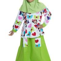 Jual Baju Muslim Gamis Anak Perempuan Motif Minnie Mouse Murah Murah