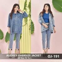 Jual jaket jeans oversize Murah