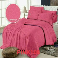 Jual SPREI POLOS EMBOS 200 X 200 X 20 - ROSEWELL PINK 108 Murah