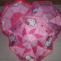 Jual payung lipat 3 motif hello kitty / frozen/ payung lipat karakter Murah